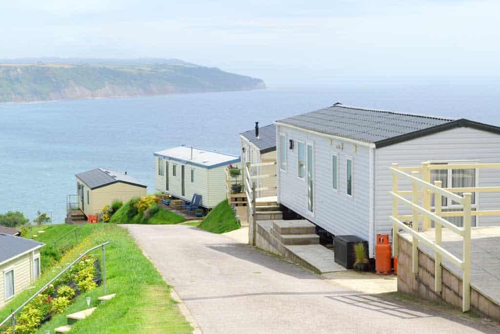 caravan holidays Devon overlooking sea