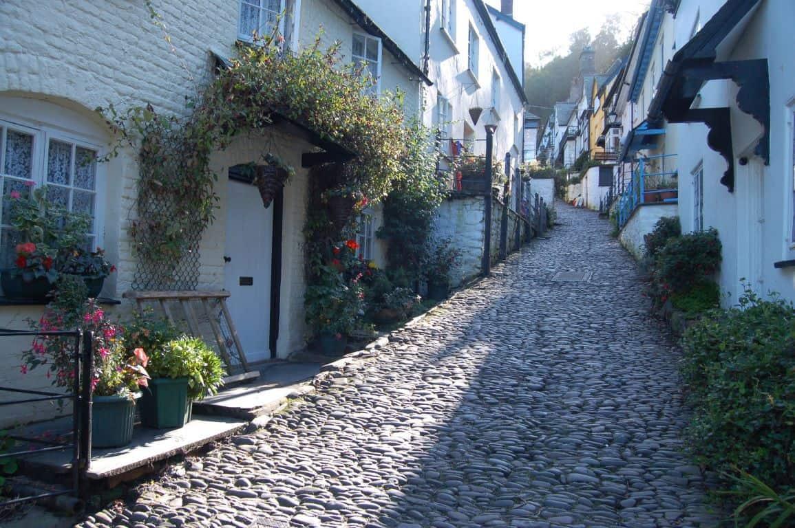 cobbled street in Clovelly, North Devon