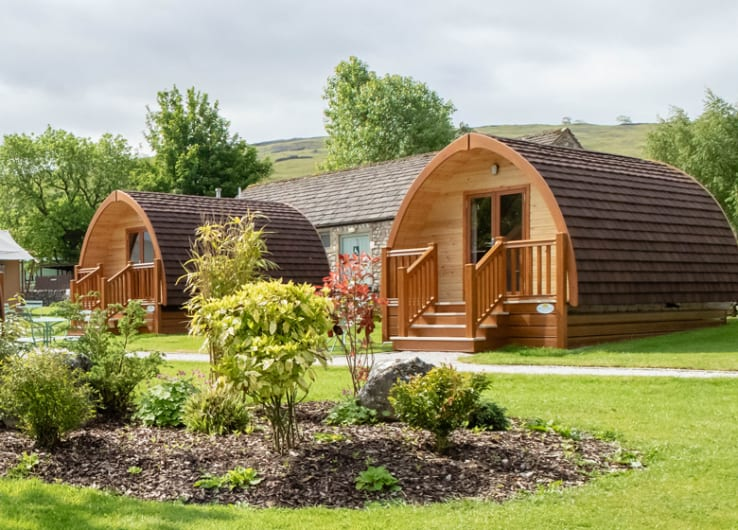camping pods located on Littondale Holiday park in Yorkshire