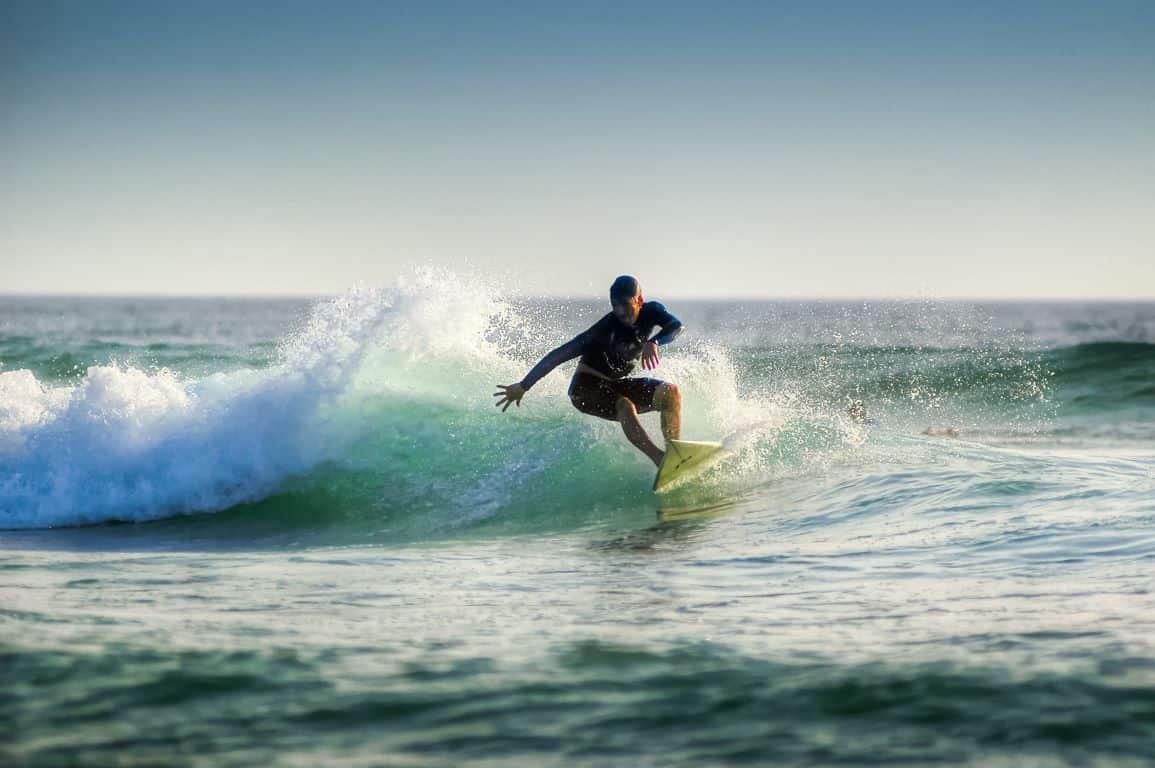 surfing in North Devon