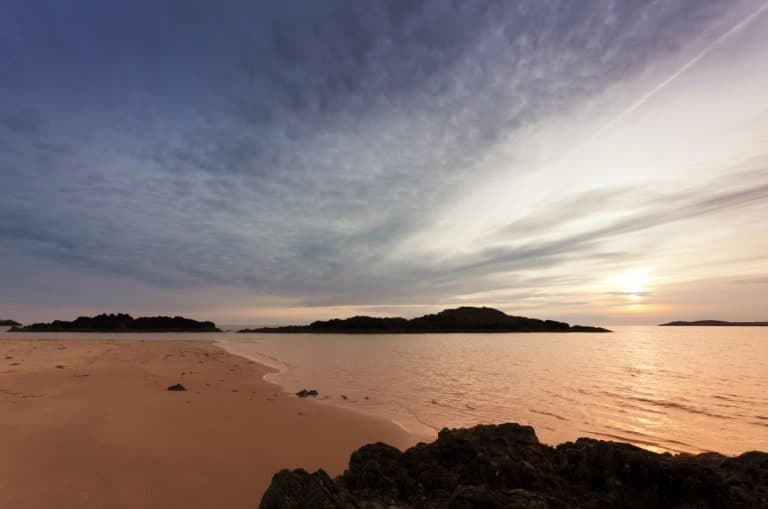 sunset at one of the best beaches in North Wales