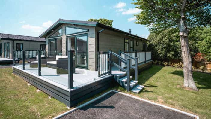 Luxury lodge for sale at New Forest Lodge Retreat Shorefield