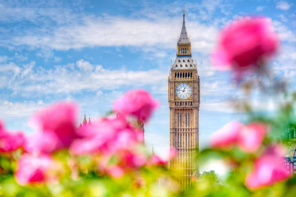 picture of Big Ben from holiday parks near London