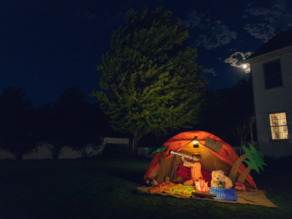 staycation camping garden home